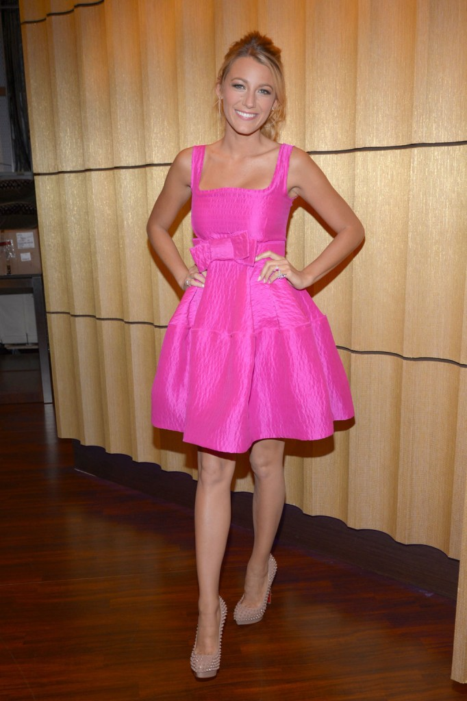 Blake Lively pink dress